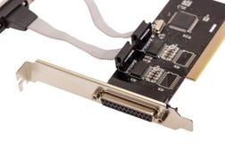 电子收藏-计算机数字式输入-输出口岸卡片 库存照片