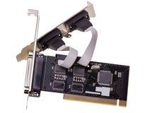 电子收藏-计算机数字式输入-输出口岸卡片 图库摄影