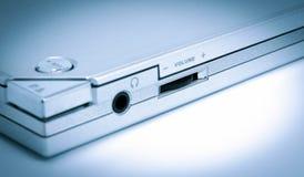 电子收藏-音量控制定了调子蓝色 库存图片