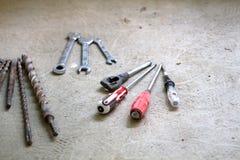 电子改造工程,许多递工具 库存图片