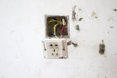 电子改造工程,轻的插座 免版税库存图片