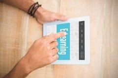 电子教学接口的综合图象 免版税图库摄影