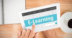 电子教学接口的综合图象 图库摄影
