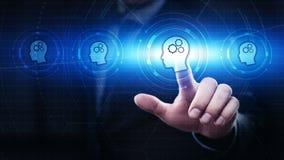 电子教学教育互联网技术Webinar网上路线概念 免版税库存照片