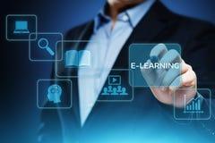 电子教学教育互联网技术Webinar网上路线概念 免版税库存图片