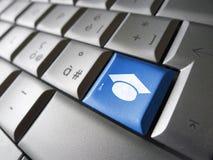 电子教学网上教育个人计算机钥匙 免版税库存图片