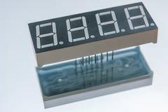 电子时钟显示芯片组分 免版税库存照片