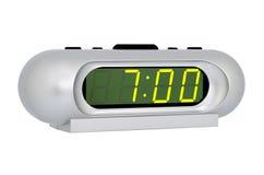 电子时钟的桌面 免版税库存图片