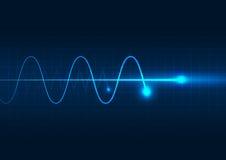 电子波向量例证 免版税图库摄影