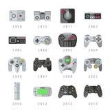 电子游戏控制,控制杆, gamepads赌博传染媒介象 向量例证