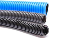 电子电压缆绳的波纹状的管子 免版税库存照片