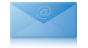 电子电子邮件信包邮件 免版税库存照片