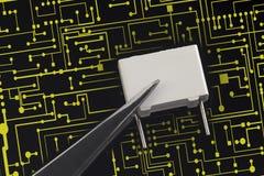 电子电容器 免版税库存图片