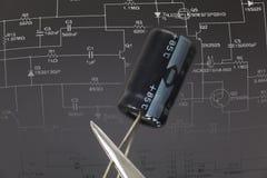 电子电容器 免版税库存照片