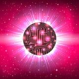电子电路抽象球形  库存照片