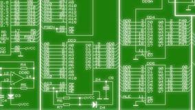 电子电路正在改变 库存例证