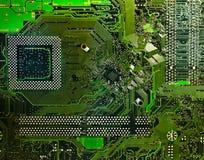 电子电路的计算机 库存照片