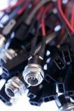 电子的电缆接头 库存照片