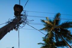 电子的电缆 库存照片