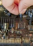 电子的电路 库存图片