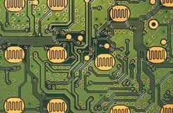 电子的电路 免版税库存图片