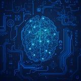 电子的脑子 图库摄影