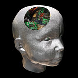 电子的脑子 库存图片