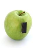 电子的苹果 库存图片