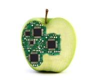 电子的苹果 库存照片