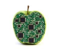 电子的苹果 免版税库存照片
