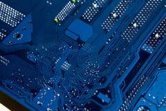 电子的董事会 颜色是蓝色的 免版税图库摄影