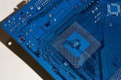 电子的董事会 颜色是蓝色的 免版税库存图片