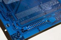 电子的董事会 颜色是蓝色的 免版税库存照片