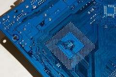 电子的董事会 颜色是蓝色的 图库摄影