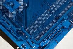 电子的董事会 颜色是蓝色的 库存照片