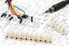 电子的要素 库存图片
