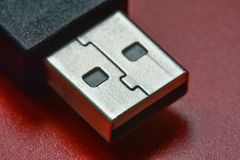 电子的USB连接器 免版税库存图片