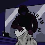 电子盗案存储 库存照片