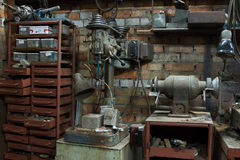 电子磨床长凳研磨机 库存图片