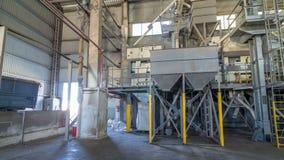 电子磨房机械和电梯种子timelapse hyperlapse的生产的 五谷设备 股票录像