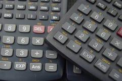 电子科学计算器背景 免版税库存照片