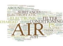 电子空气过滤器概要词云彩概念 免版税库存照片