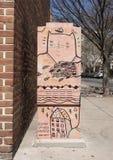 电子箱子艺术HaHaxParadigm,南大街,费城 库存照片