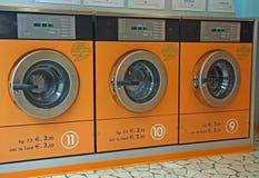 电子自动洗衣机 免版税图库摄影