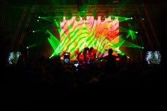 电子舞蹈音乐节日 库存图片
