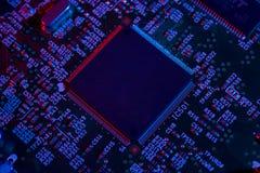 电子芯片细节 库存照片