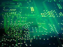 电子董事会的电路 免版税库存照片
