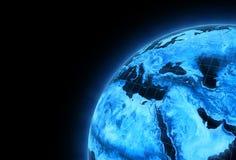 电子行星 免版税库存图片
