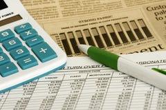 电子表格 免版税库存照片