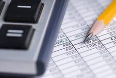 电子表格 免版税库存图片